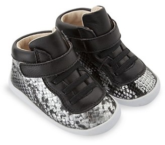 Old Soles Kid's Snakeskin Leather Sneakers
