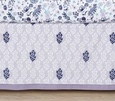 Pottery Barn Kids Hazel Printed Belgian Flax Linen Crib Skirt, Lavender Multi