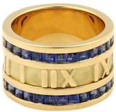 Tiffany & Co. Sapphires 18K Yellow Gold ATLAS Numerical Band Ring