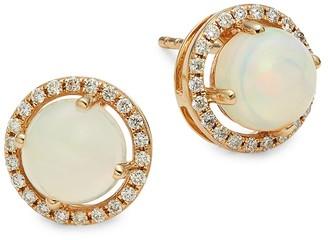 Saks Fifth Avenue 14K Yellow Gold, Opal Diamond Stud Earrings
