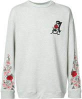 Adaptation - Adaptation X The Chain Gang oversized Weeping Rose sweatshirt - unisex - Cotton/Polyester - M