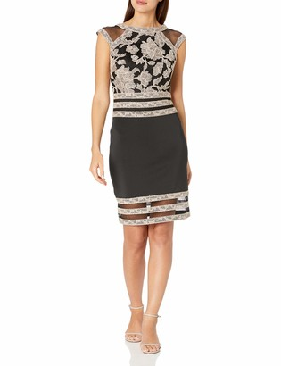 Tadashi Shoji Women's Cap Sleeve Embroidered Lace Dress