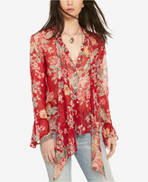 Denim & Supply Ralph Lauren Floral-Print Tie-Neck Blouse