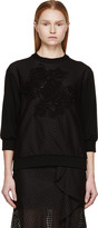 Erdem Black Eyelet and Lace Aria Pullover