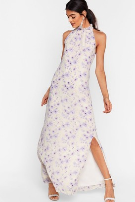 Nasty Gal Womens Plant Buy Our Love Floral Maxi Dress - Cream