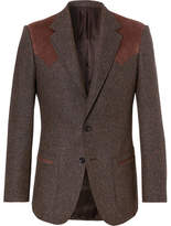 Kingsman - Jack's Statesman Brown Alcantara-trimmed Donegal Wool Blazer - Brown