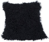 Le-Coterie Tibetan Lamb 24x24 Pillow, Black