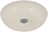 "Varaluz Swirled 12"" Flush Mount, Chrome Finish With French Feather Glass"