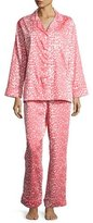BedHead Wild Thing Classic Pajama Set, Coral/Ivory, Plus Size