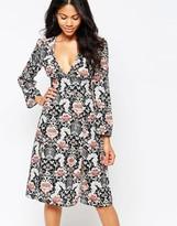 Love Floral Print Midi Dress