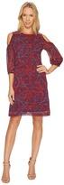 Christin Michaels Cecily Cold Shoulder Floral Dress Women's Dress