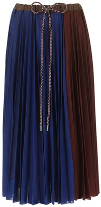 MONCLER GENIUS Moncler 1952 Pleated Two-Tone Skirt