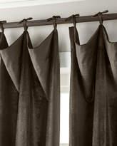 """6009 Parker 108""""L Tie-Top Velvet Curtain"""