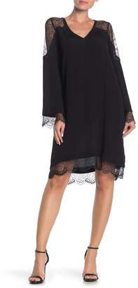 Hale Bob Margaret Crepe Lace Dress