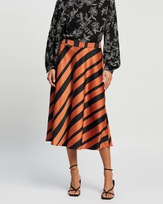 Vero Moda Women's Red Midi Skirts - Ekta High Waist Calf Skirt - Size S at The Iconic