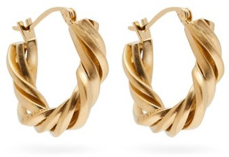 COMPLETEDWORKS Deep State 14kt Gold-vermeil Hoop Earrings - Yellow Gold