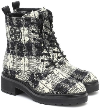 Tory Burch Miller checked ankle boots