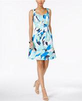 Nine West Floral-Print Fit & Flare Dress