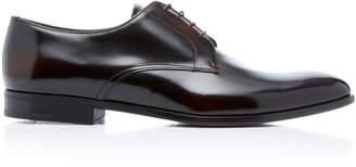 Prada Spazzolato Leather Derby Shoes