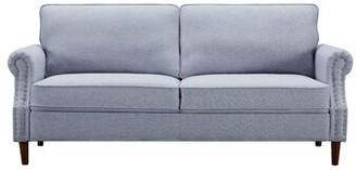 Red Barrel Studio Ajalon Microfiber 76.3'' Rolled Arm Loveseat Fabric: Light Gray