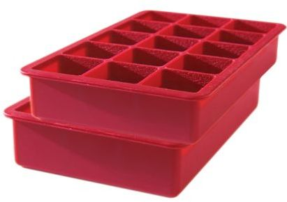 Tovolo Red Perfect Cube Ice Tray, Set of 2