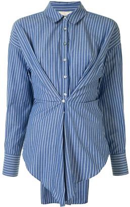 Cinq à Sept Pleated Striped Shirt