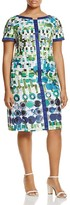 Marina Rinaldi Dondolo Watercolor Geo Print Sheath Dress