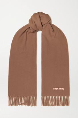 Acne Studios Fringed Wool Scarf - Camel