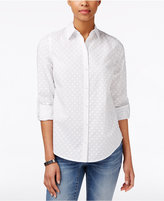 Charter Club Textured Dot Shirt, Only at Macy's