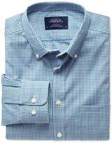 Charles Tyrwhitt Classic fit blue multi check non-iron poplin shirt