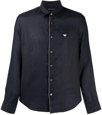 Emporio Armani Long Sleeved Linen Shirt
