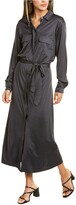 Thumbnail for your product : ROYL Lightweight Double Layer Silk Shirtdress