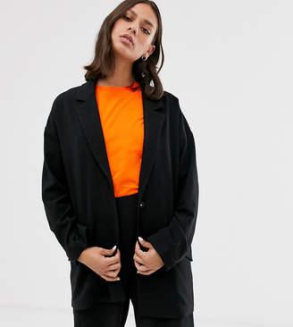 Monki clean blazer-Black