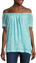 ST. JOHN'S BAY St. John's Bay Short Sleeve Woven Blouse
