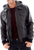 Excelled Leather Excelled Faux-Leather Bomber Jacket