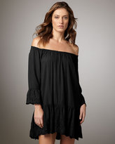 Seafolly Embroidered Coverup, Black