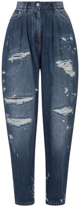 Dolce & Gabbana Ripped Balloon-Leg Jeans