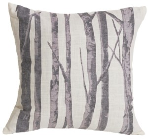 """HiEnd Accents 18""""x18"""" Printed Branches Pillow"""