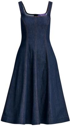 Ralph Lauren Kory Sleeveless Denim A-Line Dress
