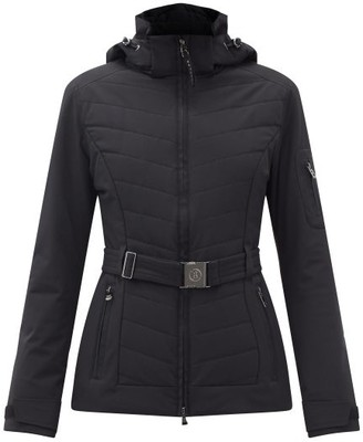Bogner Gitta-t Hooded Chevron-quilted Soft-shell Jacket - Black