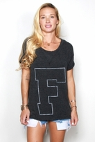 Rebel Yell F U X-Boyfriend Tee in Black