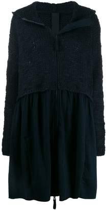 Rundholz Black Label knitted hooded cardi-coat