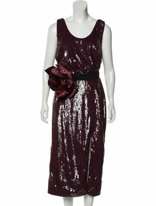 Johanna Ortiz Sequin Embellished Midi Dress w/ Tags
