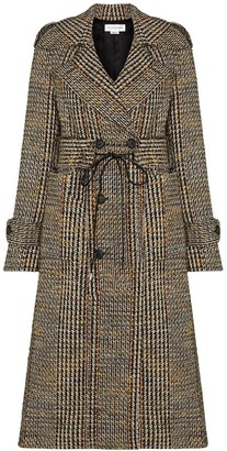 Victoria Beckham Checked Double-Breasted Coat