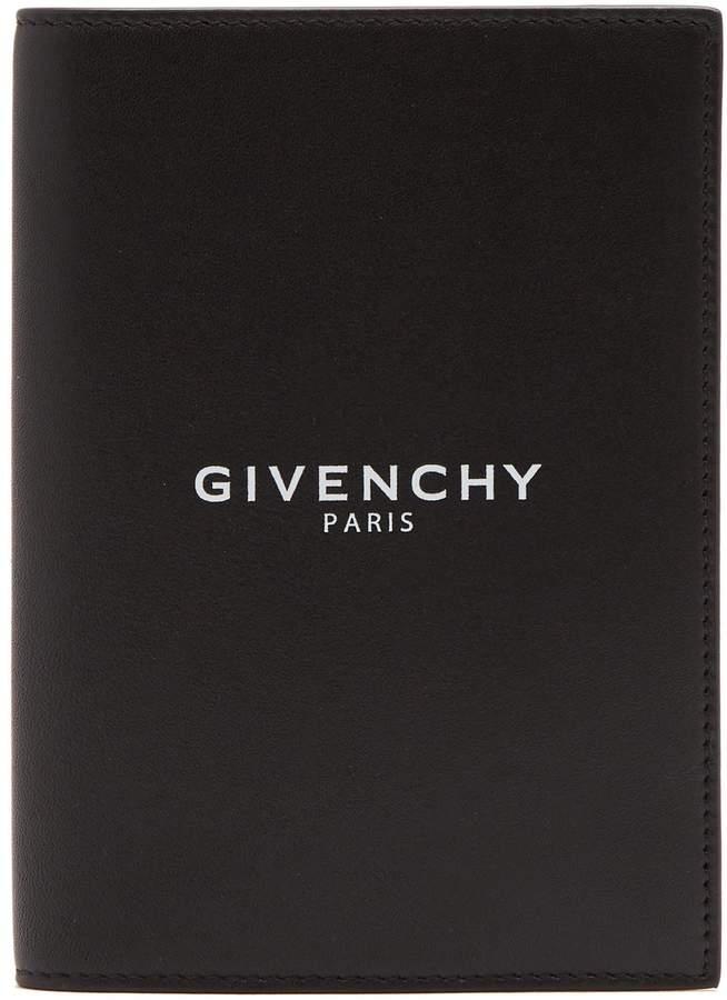 Givenchy Logo-debossed leather passport holder
