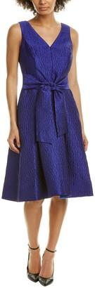 Teri Jon Jacquard A-Line Dress