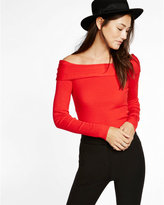 Express ribbed off the shoulder sweater