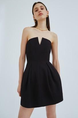C/Meo COVERT MINI DRESS Black