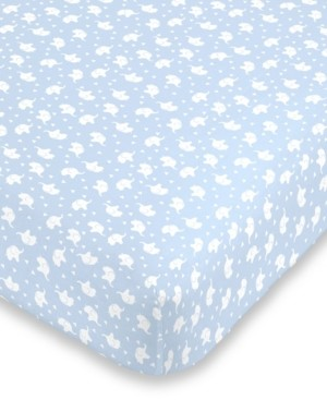 NoJo Elephant Print Crib Sheet Bedding