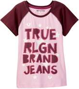 True Religion Star Raglan Tee (Toddler & Little Girls)
